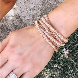 Victoria Emerson Beaded Leather Wrap Bracelet